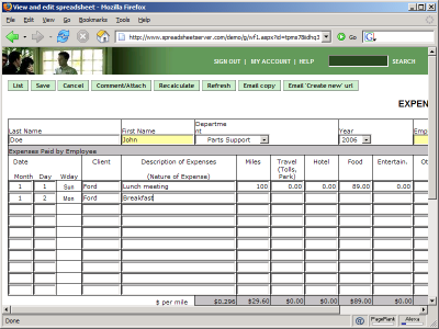 Doc.#496402: Expense Report Form Template – Free Excel Expense ...