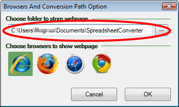 Screenshot of the SpreadsheetConverter Preferences window