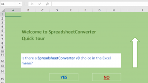 SCreenshot of the installation verification spreadsheet