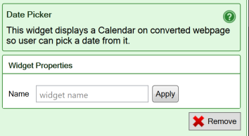 Use the basic widgets, iPhone/Android flavor - SpreadsheetConverter