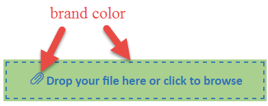 Picture showing how the theme affects the color of the dotted line and the paperclip symbol