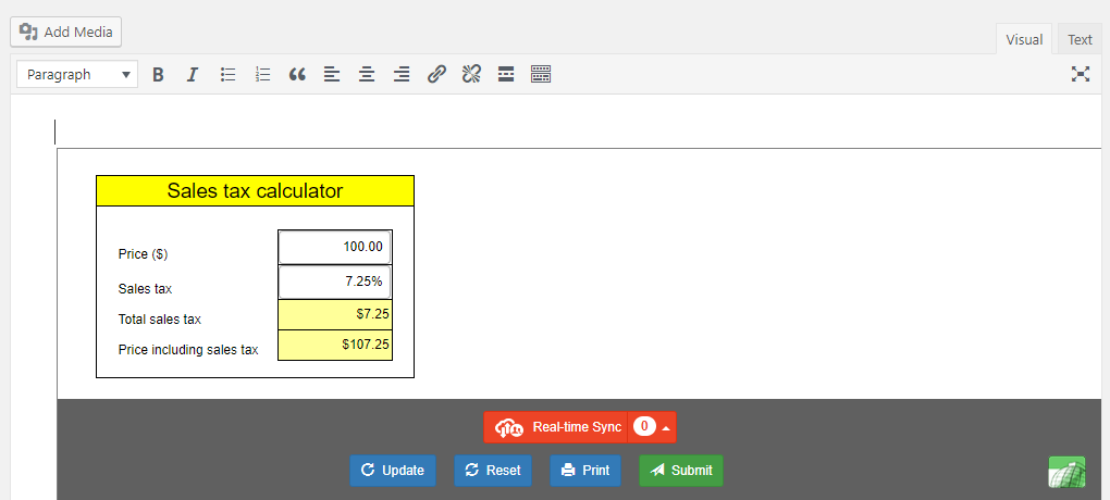 Import Excel spreadsheets and charts in WordPress with