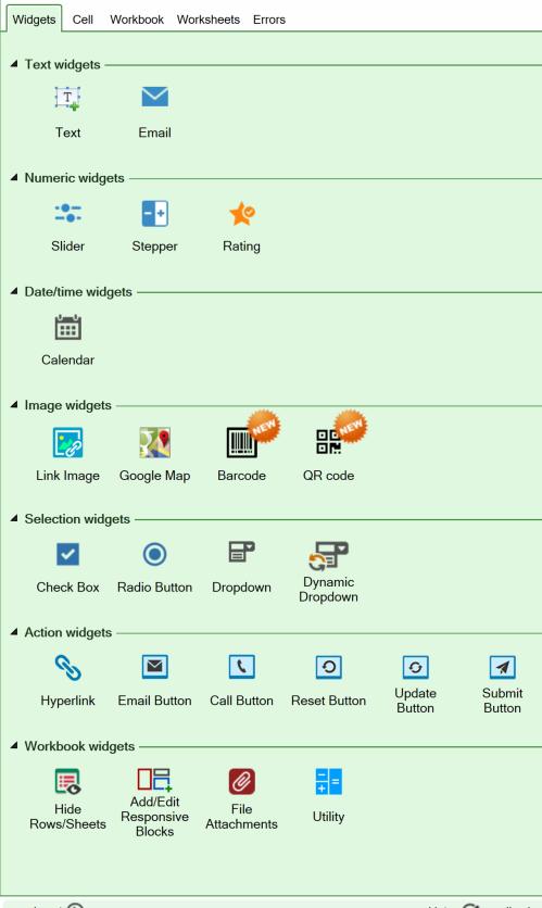 Help: Introduction to using widgets - SpreadsheetConverter