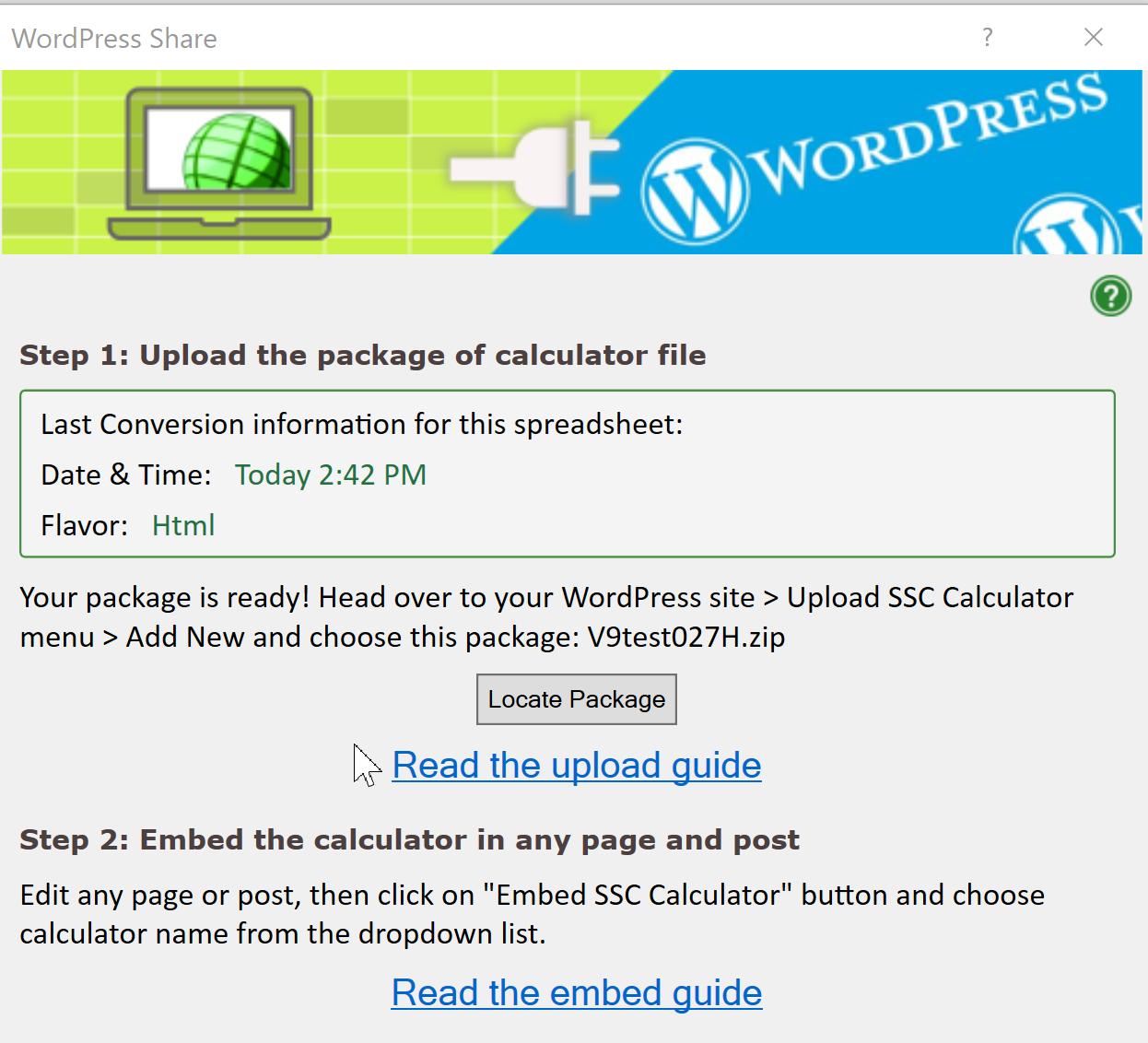 Help: Upload a spreadsheet to WordPress - SpreadsheetConverter